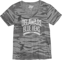 Blue 84 Camo V Neck T Shirt