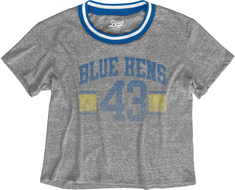 Blue 84 Varisty Crop T Shirt