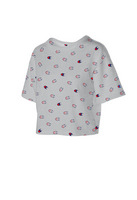Champion Womens All Over Print Heritage Cropped Tee