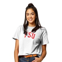 League Clothesline Cotton Crop T Shirt