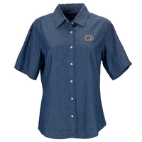 Vantage Womens Short Sleeve Hudson Denim Shirt