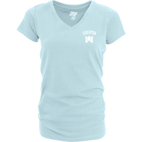 Blue 84 Dyed Ringspun Cotton V Neck T Shirt