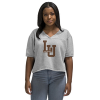 Alta Gracia V Neck Cropped Football Tee