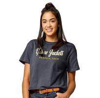 League Womens Clothesline Cotton Crop T Shirt