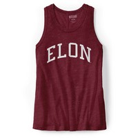 Red Shirt Solid Swing Tank