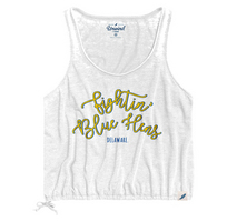 League Womens Burnout Drawstring Tank Top