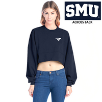 Spirit Jersey Raw Hem Cropped Top