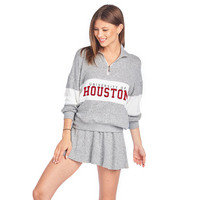 Spirit Jersey Brushed Contrast Panel Quarter Zip