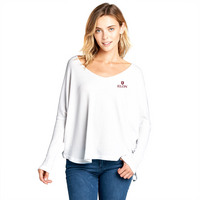 Spirit Jersey Oversized Thermal Long Sleeve Vneck