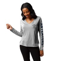 League Womens ReSpin V Neck Long Sleeve T Shirt
