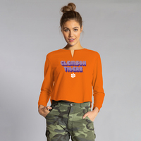 Team LJ Womens Cropped V Notch T Shirt