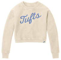 League Womens Cropped Timber Cord Crewneck Sweatshirt