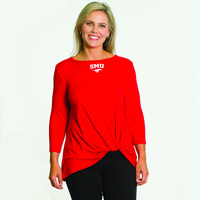 Flying Colors Relaxed Fit Twist Front Top