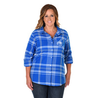UG Apparel Plus Size Boyfriend Plaid