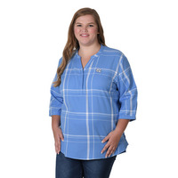UG Apparel Plus Size Plaid Tunic