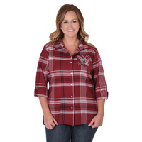 UG Apparel Plus Boyfriend Plaid