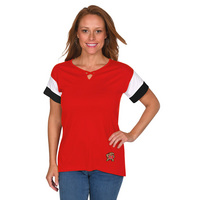 UG Apparel Missy Criss Cross Colorblock Top