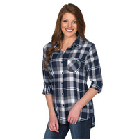 UG Apparel Missy Boyfriend Plaid