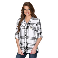 UG Apparel Missy Satin Weave Plaid