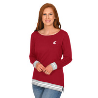 UG Apparel Missy Striped Rib Pullover