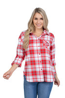 Womens Boyfriend Plaid Top