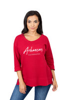 University Girls Womens Long Sleeve Boat Neck Top