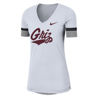 Nike Womens Fan V Short Sleeve Top