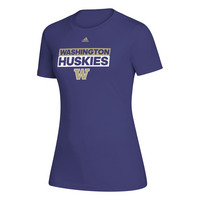 Adidas Husky Womens Creator Performance Wicking Short Sleeve T Shirt