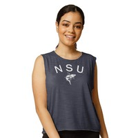 Red Shirt Athleisure High Neck Muscle Tank