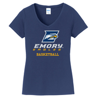 Basketball Short Sleeve Vneck Womens Tee (Online Only)