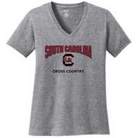 South Carolina Gamecocks Cross Country Short Sleeve VNeck Tee