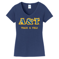 Track & Field Short Sleeve Vneck Womens Tee (Online Only)