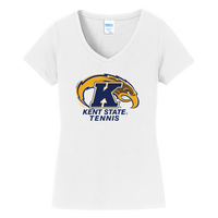 Tennis Short Sleeve Vneck Womens Tee (Online Only)