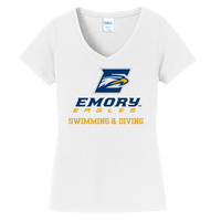 Womens Swimming and Diving V Neck Tee (Online Only)