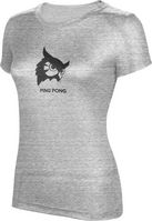 ProSphere Ping Pong Womens TriBlend Distressed Tee
