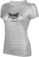 ProSphere Softball Womens TriBlend Distressed Tee