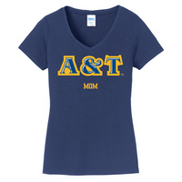 Mom Short Sleeve Vneck Womens Tee (Online Only)