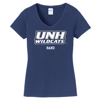 Band Short Sleeve Vneck Womens Tee (Online Only)