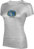 ProSphere Womens Tri Blend Distressed Tee   Aviation