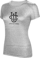 ProSphere Womens Tri Blend Distressed Tee   Computer Science