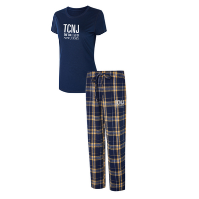 College Of New Jersey, The Ethos Ladies Short Sleeve And Pant Set