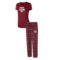 Texas A&M Ethos Ladies Short Sleeve And Pant Set