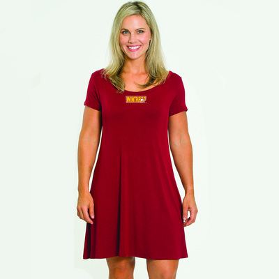 Flying Colors Cap Sleeve Relaxed Fit Criss Cross Dress