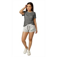Red Shirt Athleisure Pull On Shorts