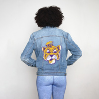 Team LJ Womens Screen Printed Denim Jacket