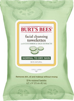 Burts Bees Facial Cleansing Towelettes, Cucumber and Sage, 30 Count