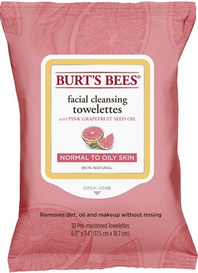 Burts Bees Pink Grapefruit Towlettes