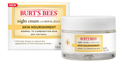 Burts Bees Skin Nourishment Night Cream for Normal to Combination Skin, 1.8 Ounces