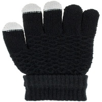 Diamond Textured Glove with Fold Over Cuff & 3 Finger Touch