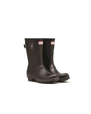 Hunter Boots Original Short Boot in Black Size 8